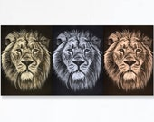 THREE LIONS wall art - En...