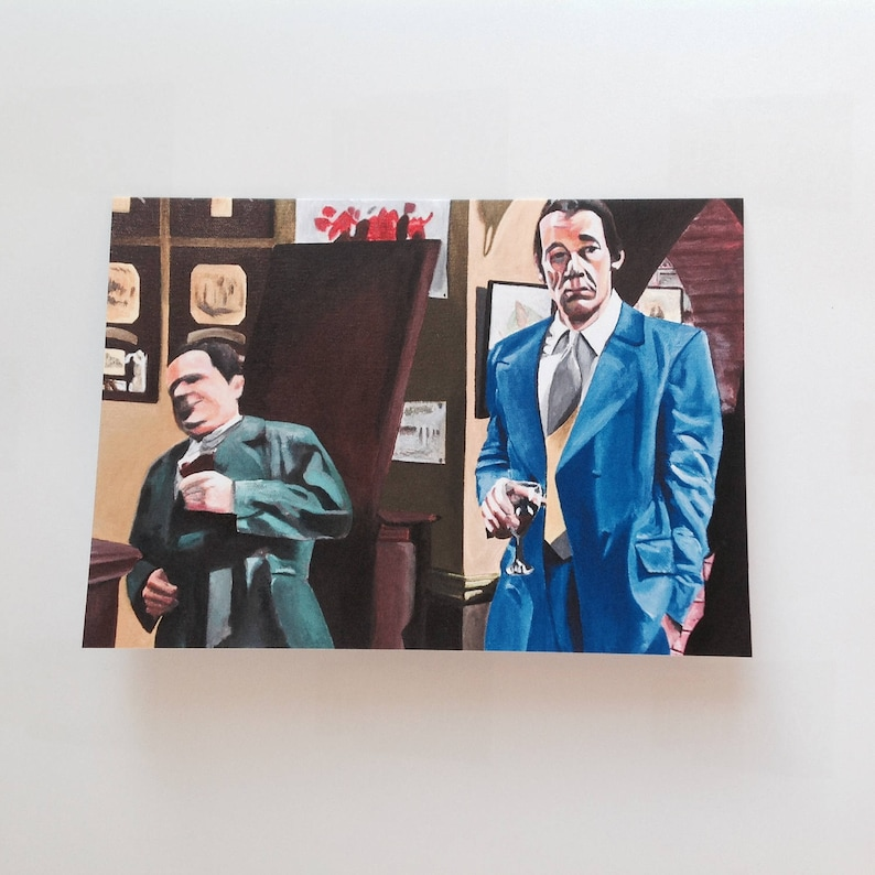 ONLY FOOLS & HORSES greeting card  vintage Del Boy falling image 0