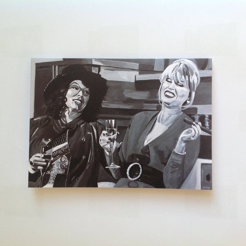 AB FAB greeting card  classic Edina and Patsy getting drunk  image 0