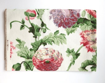 Poppies Cotton Upholstery Fabric Sample