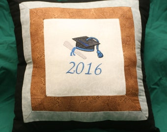 Graduation Pillow, Throw Pillow, Home Décor, Living Room, Bedroom, Couch, Cushion, Decorative Pillow