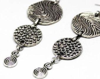 Boho  Silver Ox Earrings