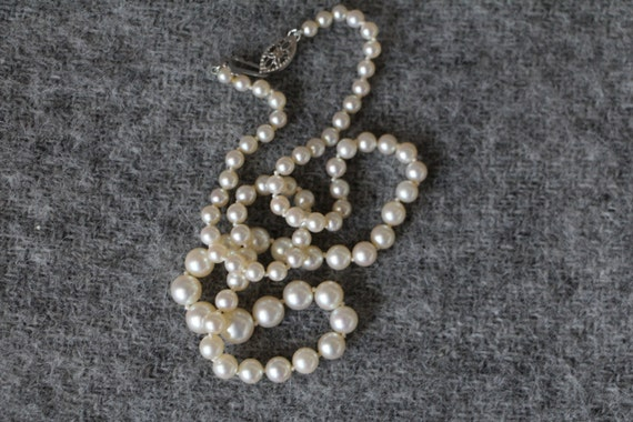 SALE pearl necklace / pearl necklace, silver clasp