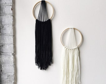 Modern Dream Catcher, Yarn Wall Hanging, Boho Home Decor