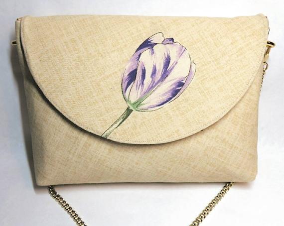 Purple purse tulip spring purse floral bag flower