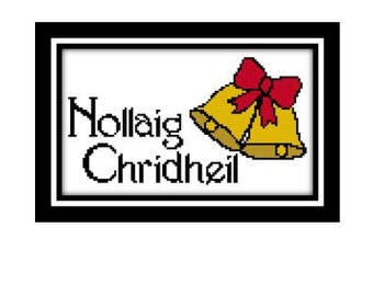 christmas cross stitch pattern scottish gaelic nollaig chridheil meaning merry christmas design pdf pattern digital file instant download - Merry Christmas In Gaelic