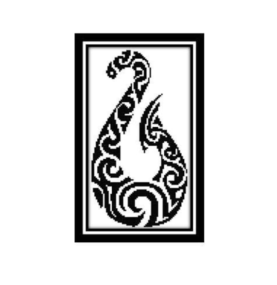 New Zealand Cross Stitch Pattern Hei Matau Maori Fish Hook Etsy