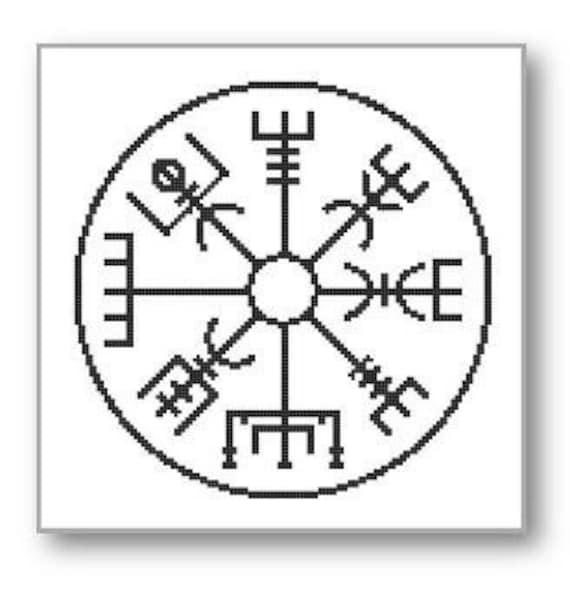 Viking Cross Stitch Pattern Vegvisir Protection Safe Travel Etsy