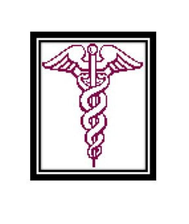 Protection Caduceus Cross Stitch Pattern Greek Mythology Etsy