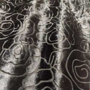 Black Hair On Laser Engraved Engrave Stripe Cavallino Cavalino Pony hair CALF SKIN HIDE