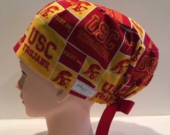 bca165ca7a0 Women s Surgical Scrub Hat~Euro Style~USC~University of Southern California~ Trojans~Fight On!