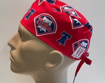 e38cbfca791 Men s Surgical Scrub Hat~with ties~Philadelphia Phillies~MLB~Baseball~ Phillies