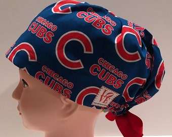 832635ade1c Women s Surgical Scrub Hat~Euro Style~Chicago Cubs~World Series Champions ~Cubbies~Chicago Baseball