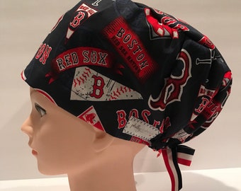 3b4be28e5ed Women s Surgical Scrub Hat~Euro Style~Boston Red Sox~2018 World Series  Champions~MLB~Green Monster~Red Sox Nation