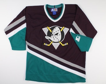 9f30af24a2f Vintage 90s Anaheim Mighty Ducks Starter Hockey Jersey Size Youth L XL  Womens Disney Era