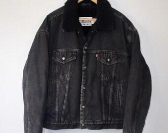 Black Levis Jacket Etsy