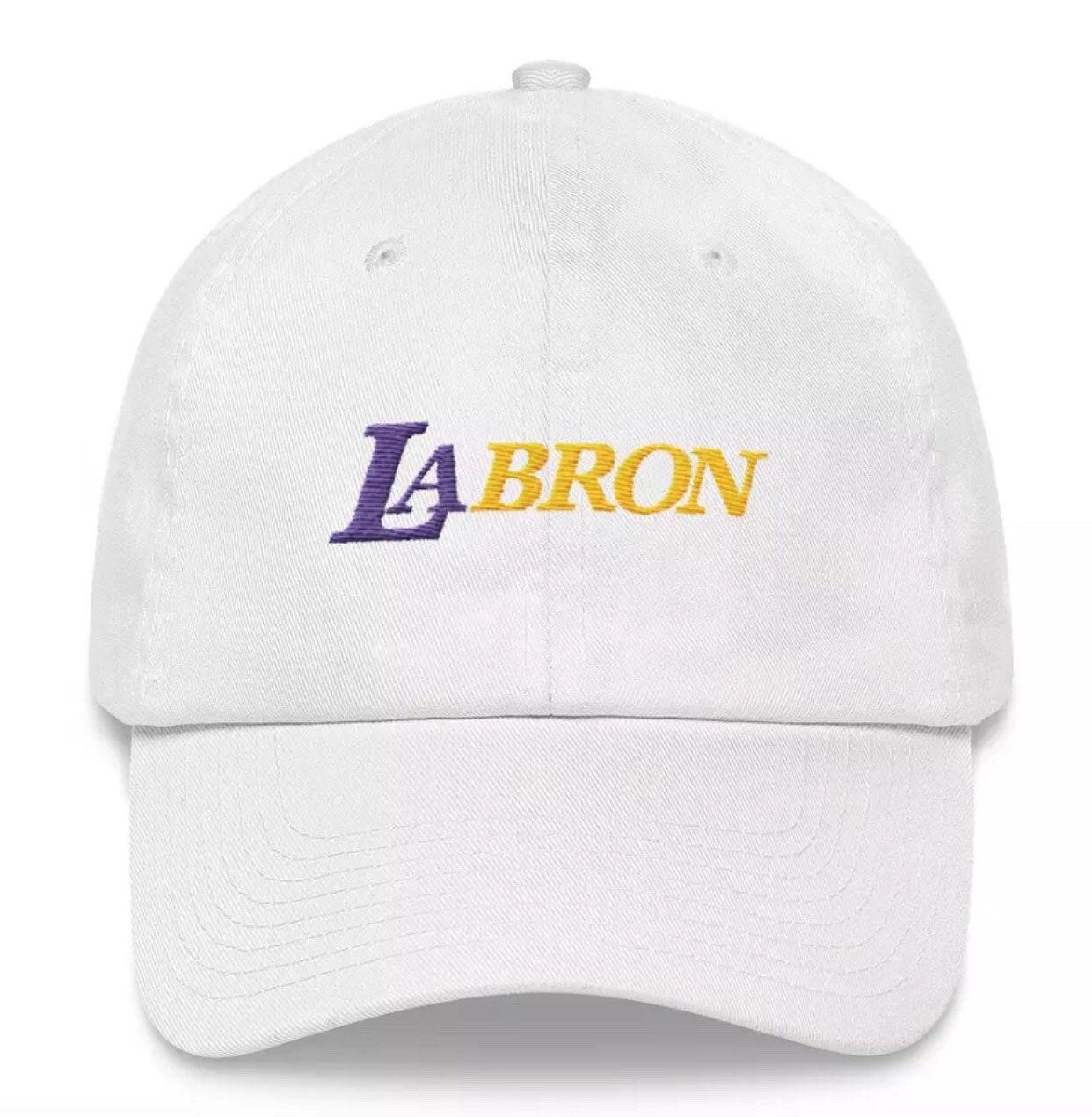 Lebron James LAbron Los Angeles Lakers LA Embroidered Dad Hat  32ebdf3cad72