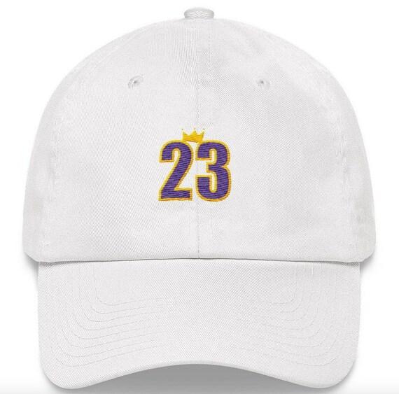 Lebron King James 23 LA Los Angeles Lakers Embroidered Dad Hat  f8b20912c94f