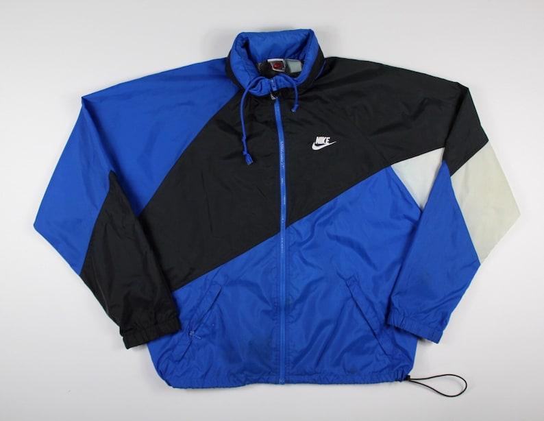 b1dc06353b56 Vintage 80s 90s Nike Air Swoosh Hooded Windbreaker Zip Up