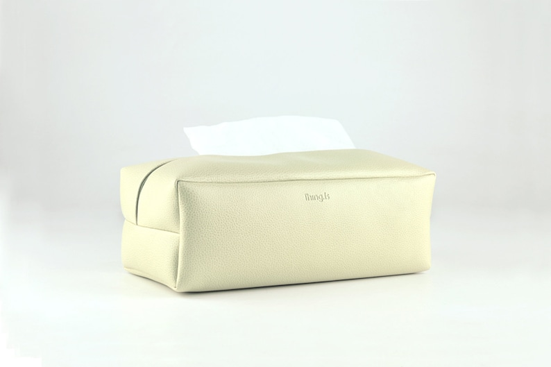 PU Leather Tissue Box Cover Rectangle Tissue Box Facial image 0