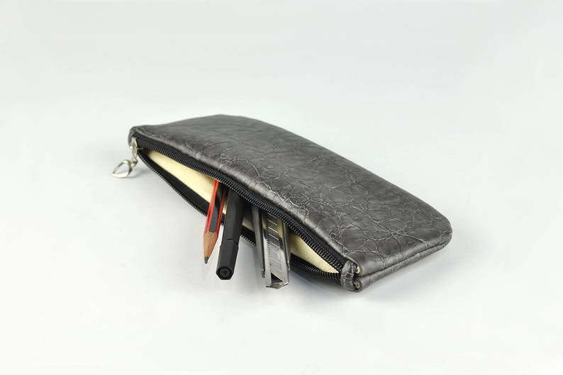 PU Leather Pencil Case Pen Case Toiletry Bag Travel Bag image 0