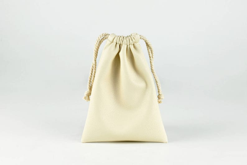 Soft PU Leather Drawstring Bag Small String Pouch Jewelry image 0
