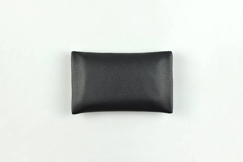 Travel Tissue Holder Portable Tissue Case PU Leather Pocket Tissue Holder for Purse Tissue Cover Black Tissue Pouch