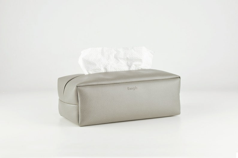 PU Leather Tissue Box Holder Rectangle Tissue Box Cover  image 0
