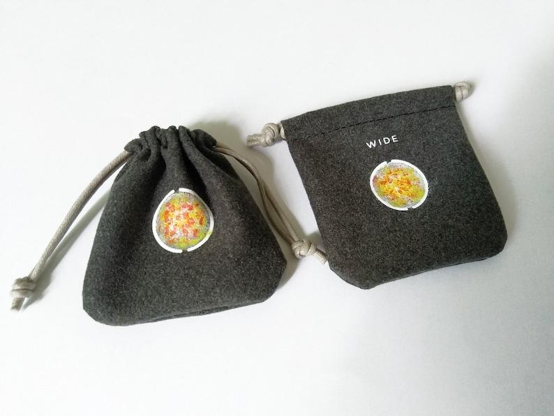 Small Microfiber Drawstring Bag Jewelry Bag Phone Lens Bag Black Coins Pouch Storage Bag