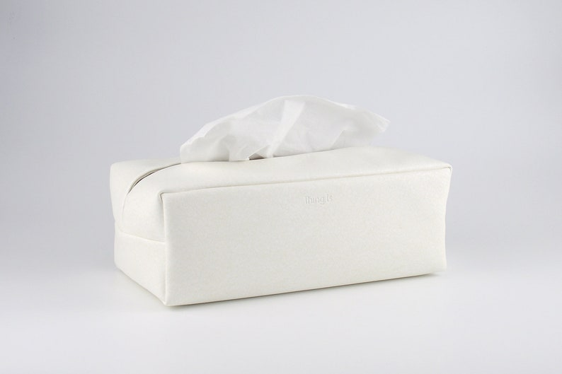 PU Leather Tissue Box  Rectangle Tissue Box Holder Facial image 0