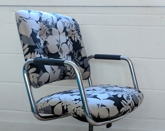 Steelcase Desk Chair – Vintage Office Chair – Upholstered Desk Chair - Mid Century Office Chair