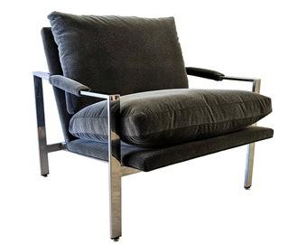 Milo Baughman for Thayer Coggin Flat Bar Lounge Chair