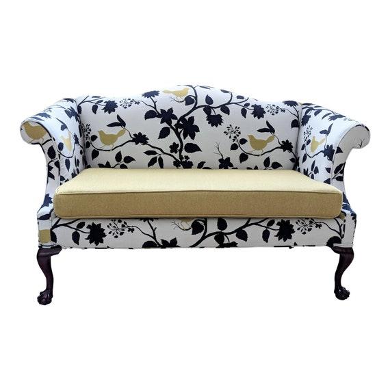 Super Restored Vintage Queen Anne Sofa Antique Chippendale Settee Camelback Loveseat Theyellowbook Wood Chair Design Ideas Theyellowbookinfo