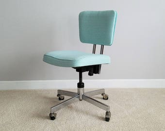 Custom Order U2013 Vintage Swivel Chair   Swivel Desk Chair U2013 Vintage Metal Office  Chair U2013 1970s Office Chair