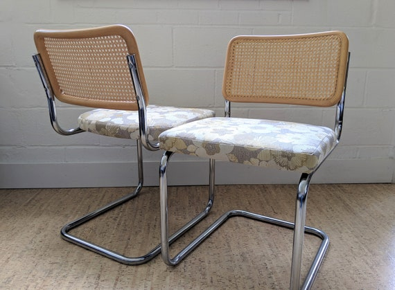 Marcel Breuer Style Cesca Chairs Vintage Cantilever Chairs