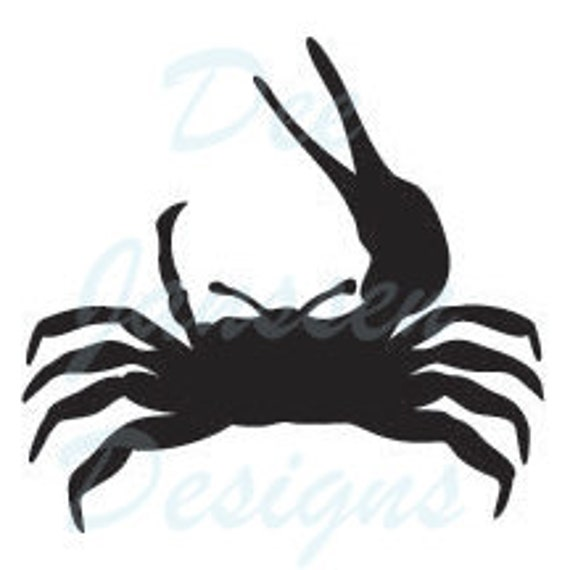 Crab Stencil Template Scrapbooking Fabric Painting Etsy