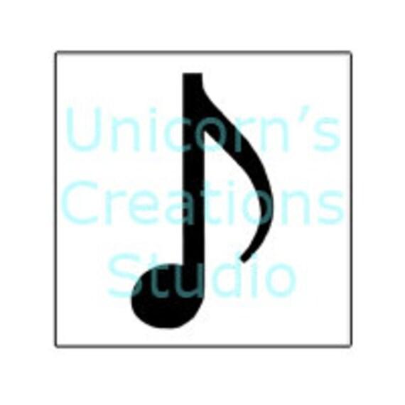 Airbrush Schablone Stencil Noten Musik 57