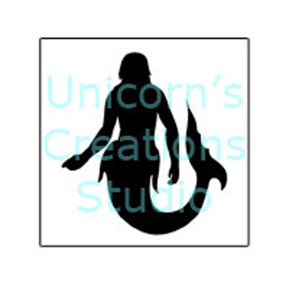 mermaid stencil template scrapbooking fabric painting etsy