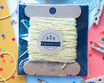 20 yards Yellow Bakers Twine, Christmas Gift Wrap, Gift Wrapping,Yellow String,Yellow Party Favors,Yellow Decorations,Food Packaging