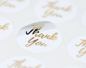 42 Gold Foil Stickers, Envelope Seals, Packaging Stickers,Product Label Stickers,Thank You Stickers,Gold Letter Stickers,Packaging Stickers