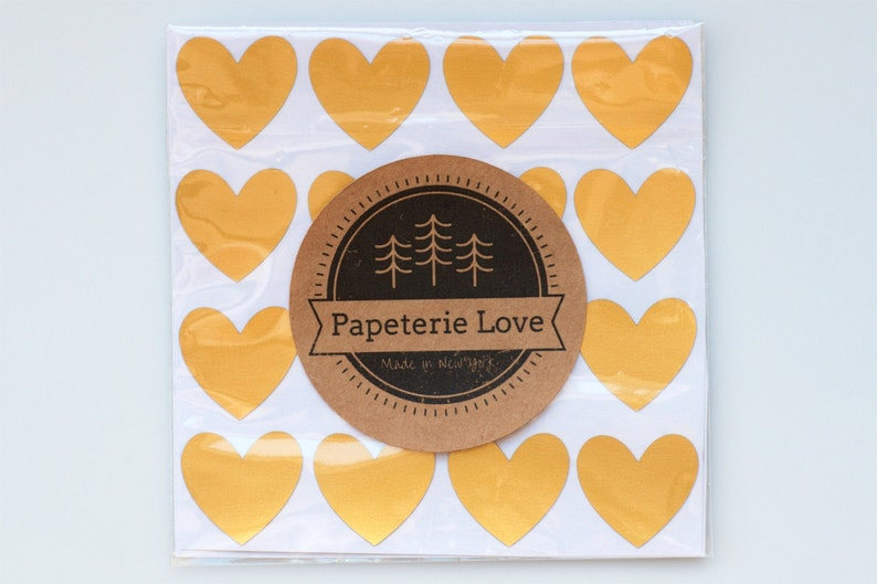 Heart Gold /& Kraft Foil Stickers 2 Sheets Stickers