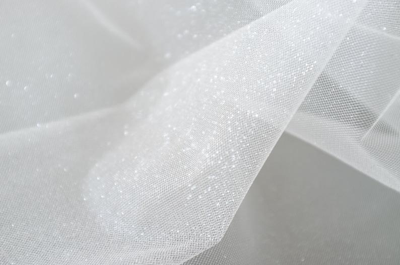 88303976f2b2e Ivory Glitter Tulle Dust Glitter Tulle Fabric Bridal