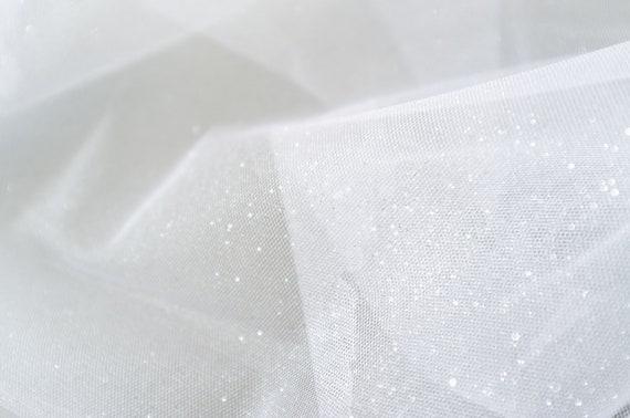 Tulle glitter white