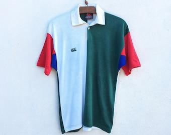 d838184c Vintage Canterbury Color Block Rugbywear pullover polo