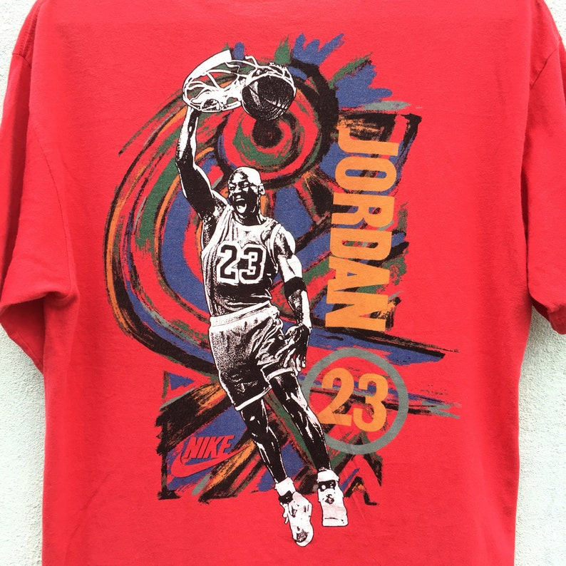 f62c2d30f24 Rare Vintage 90s Nike Air Michael Jordan Grey Tag 23 Medium | Etsy