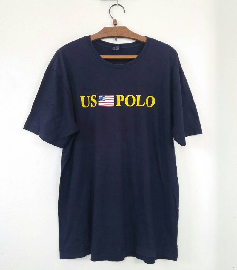 Sportsman Usa Ralph Stadium92 Lauren Us Flag Vintage Polo Spell Out Xlarge Tshirt FT1Jl3Kc