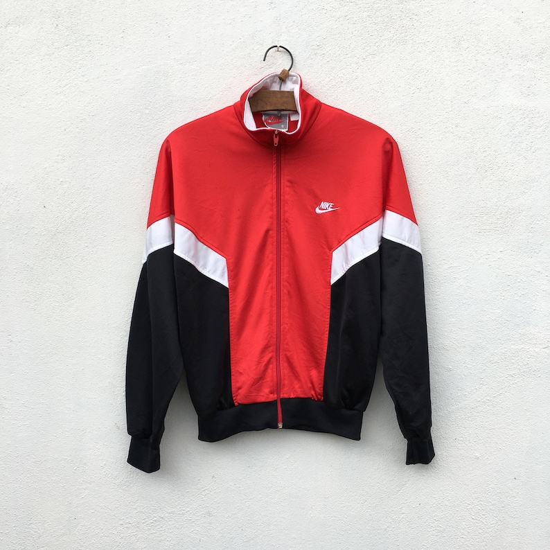 8ee918da3eb751 Vintage 80s Nike Track Embroided Swoosh Zipper Jordan Colorway