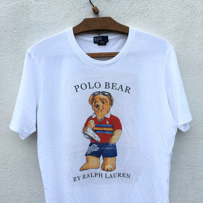 939b210b8 Rare Vintage POLO BEAR by Ralph Lauren Big Logo Spell Out | Etsy