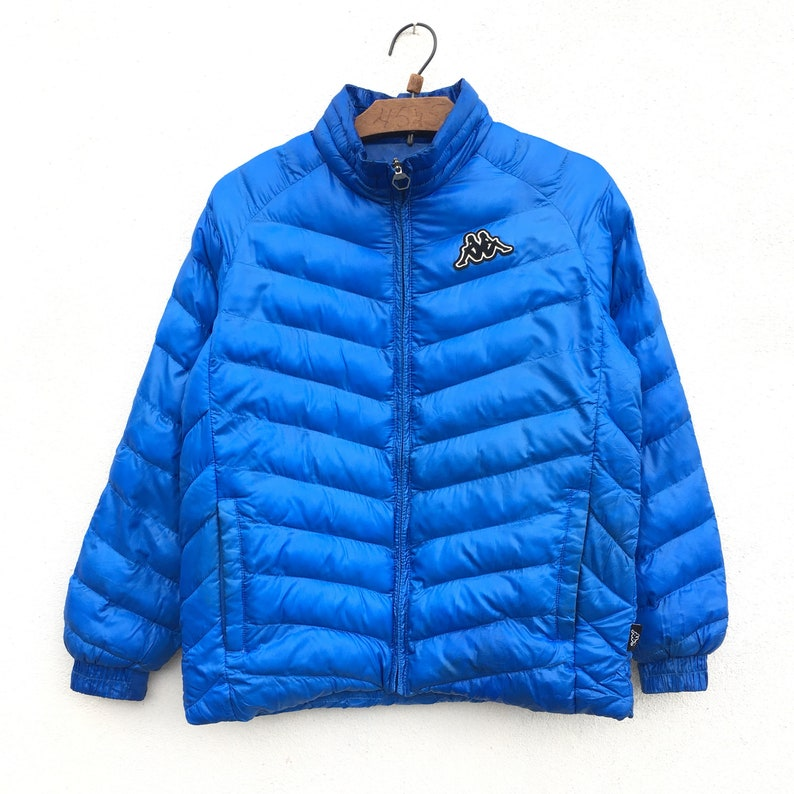 7199d2d14bf Rare Kappa Down Puffer Bomber Jacket | Etsy