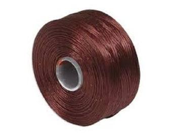 S-Lon D Beading Thread. Superlon Bead Weaving Thread. BURGUNDY x 1